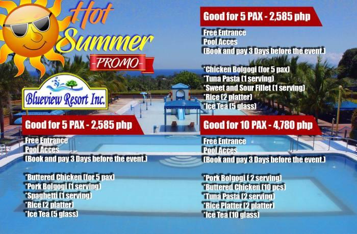 BlueViewResortInc hot summer promo 5pax