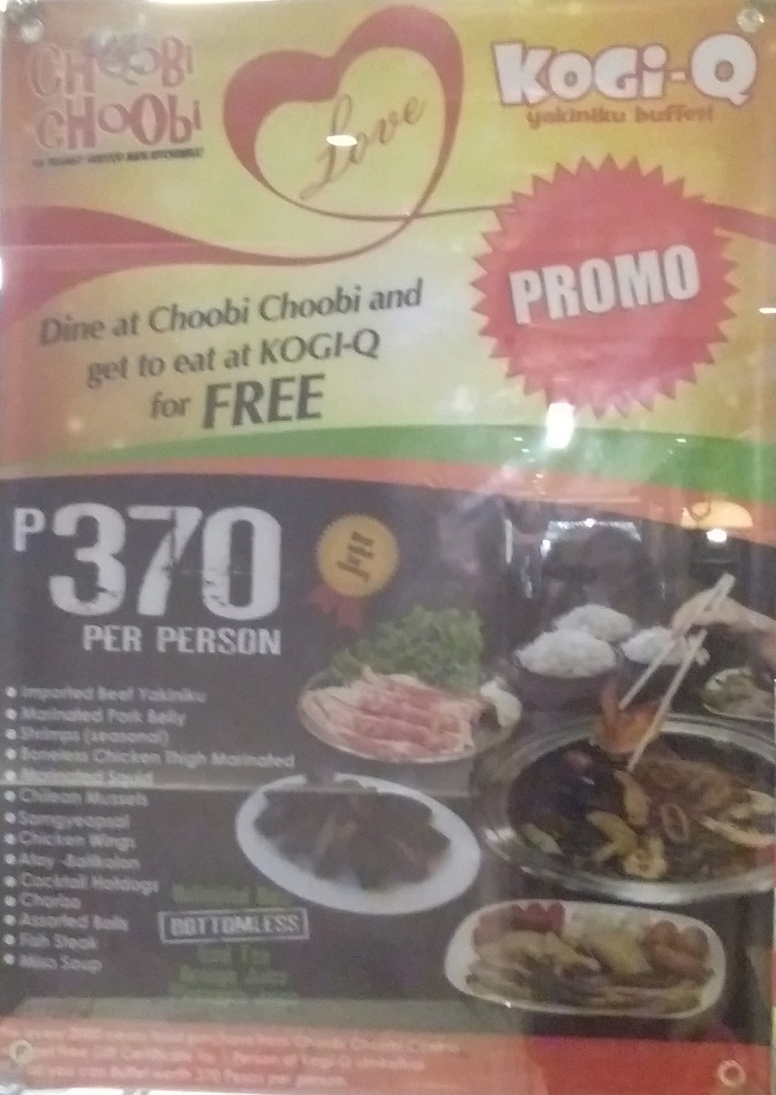 Choobi Choobi eat for free at Kogi-Q