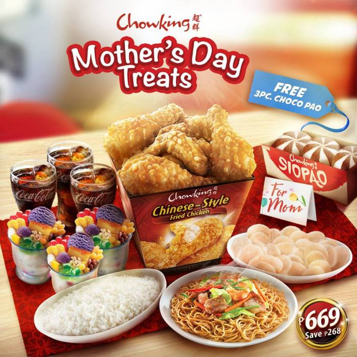 Chowking Mothers Day Treats