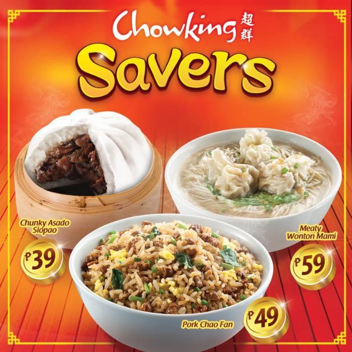 Chowking Savers coupons