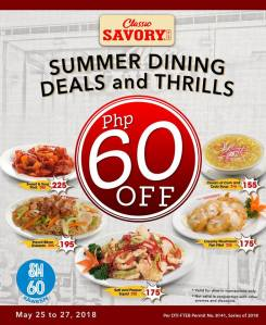 Classic Savory P60 off at SM 60th Anniversary