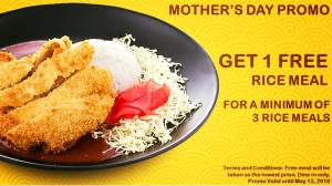 Curry Curry buy 3 take 1 mother's day treat