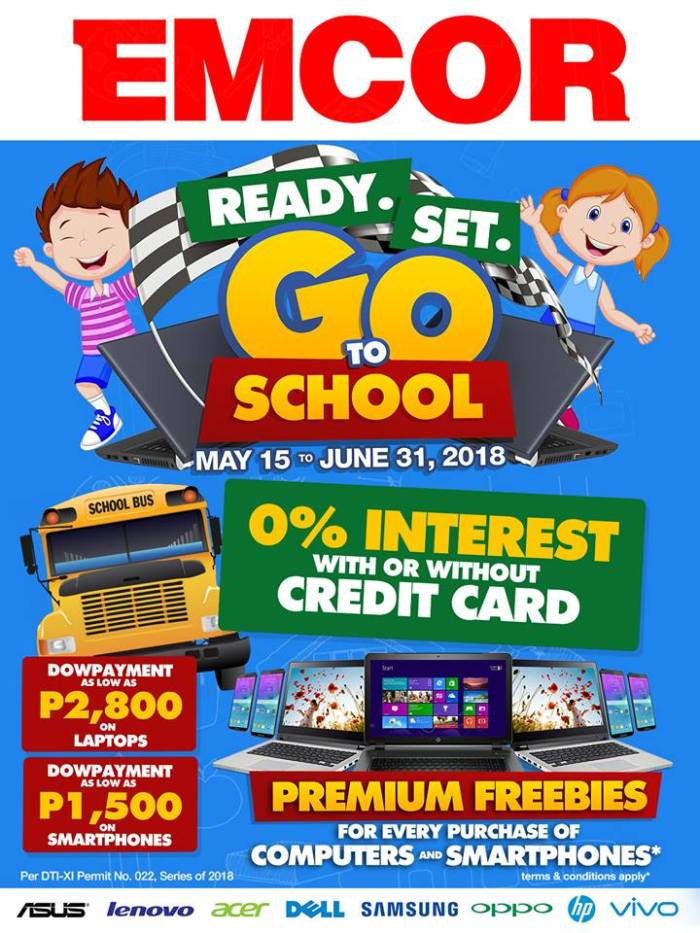 emcor ready set go to school promo