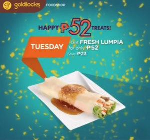 goldilocks fresh lumpia P52 treat