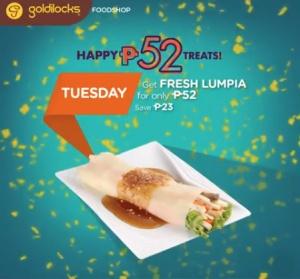 goldilocks fresh lumpia P52 treat
