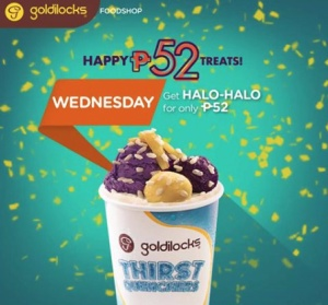 Goldilocks halo-halo P52 treat