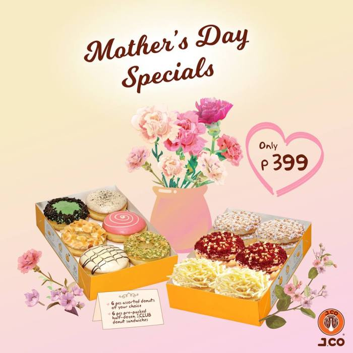 J.CO Mother's Day Specials