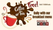 Magill's Bistro Free Coffee Or Tea FI