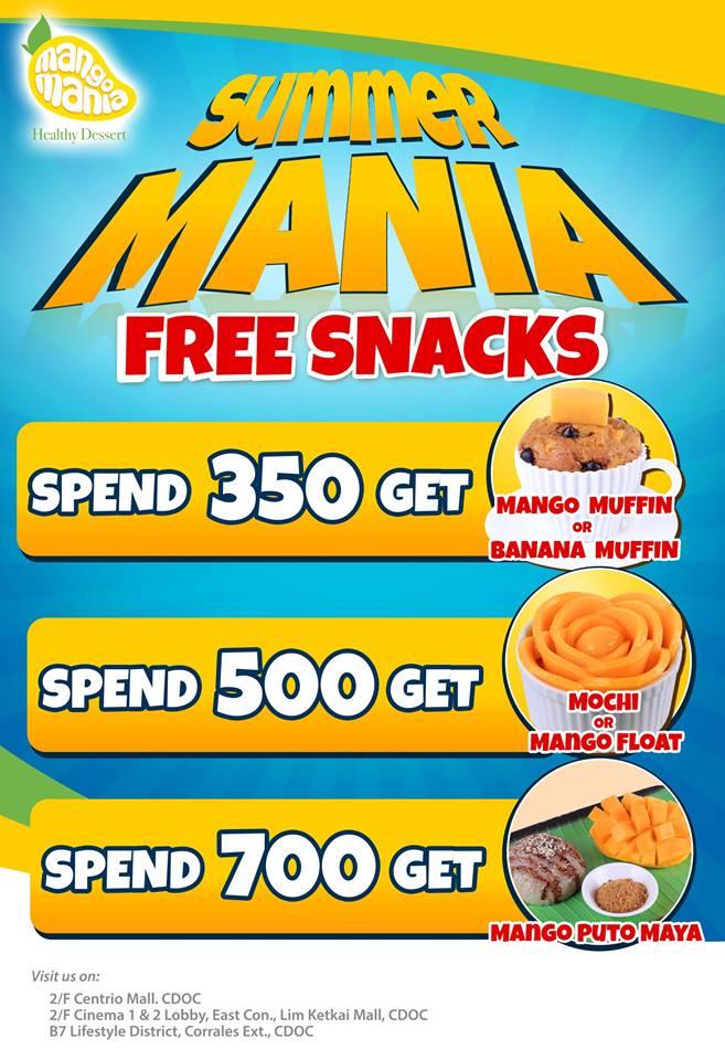 Mango Mania Summer Mania Free Snacks