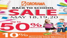 ororama back to school sale FI