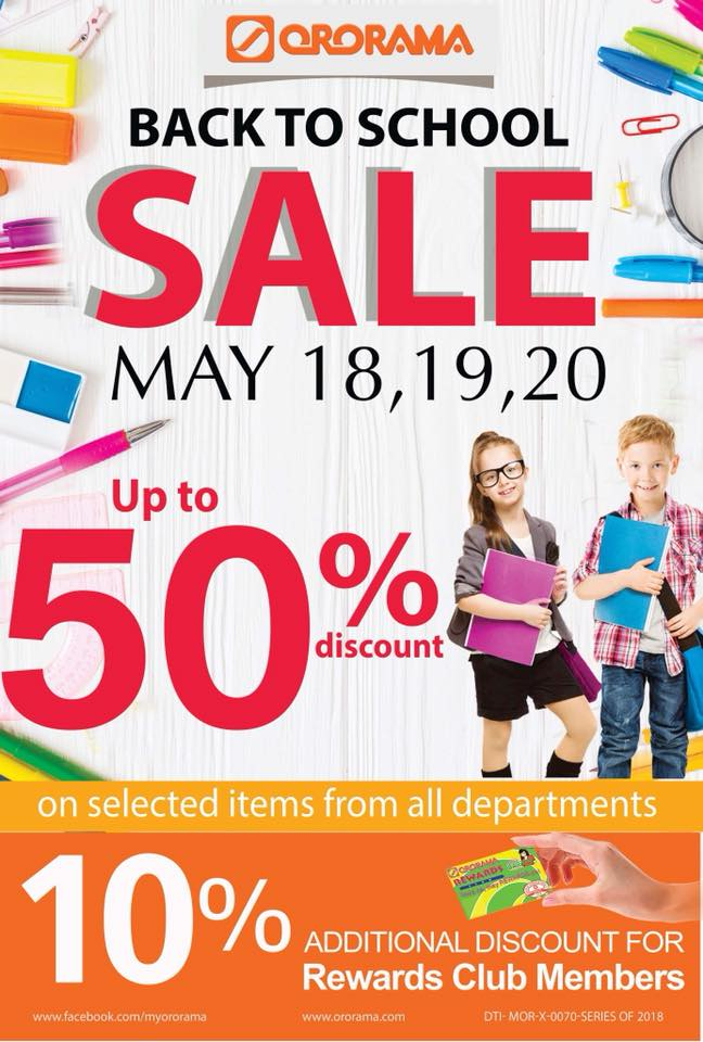 ororama back to school sale