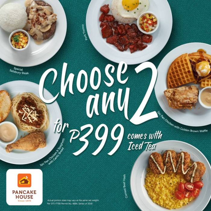 Pancake House Choose Any 2 for P399