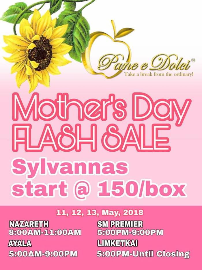 Pan e Dolci Mother's Day Flash Sale