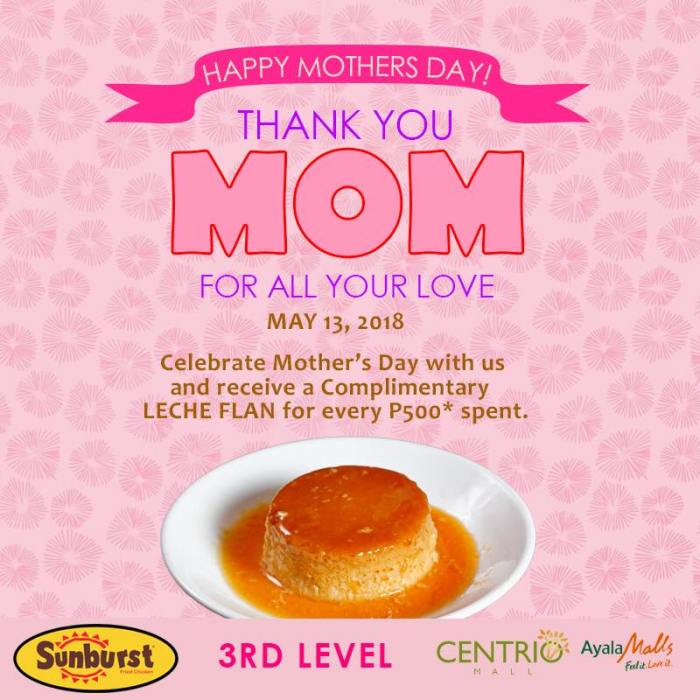 Sunburst Centrio Mother's Day treat