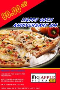 The Big Apple Pizza Co SM 60th Anniversary Celebration