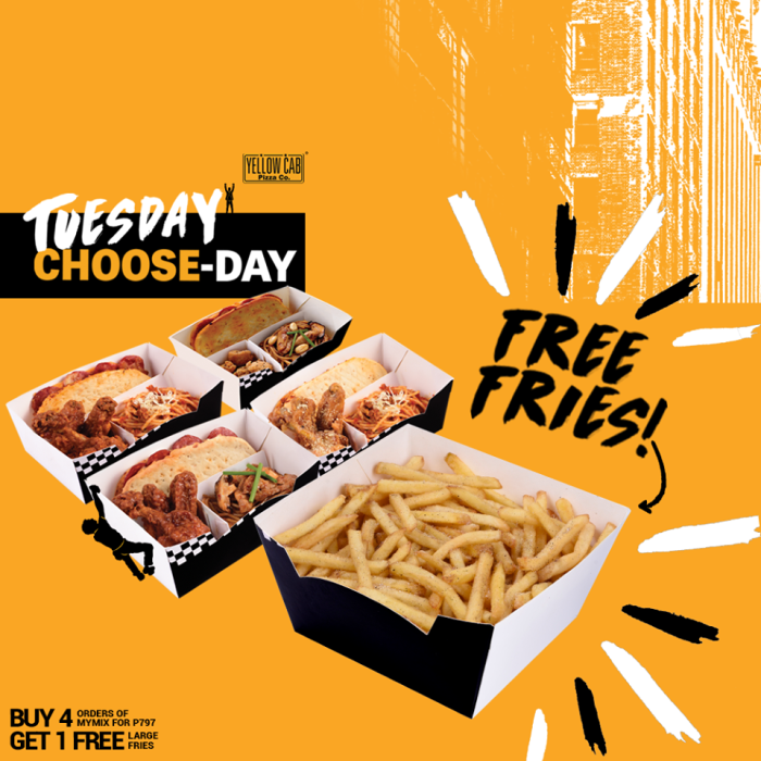 Yellow Cab Pizza Tuesday Choose-Day