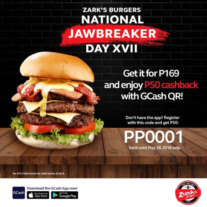 Zarks Burgers National Jawbreaker day Gcash