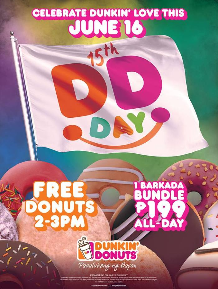 15th DDday - FREE Dunkin Donuts