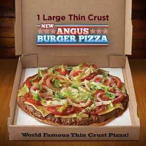 angus burger pizza