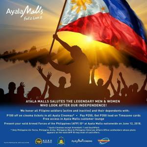 Ayala Malls Independence Day Treat to Filipino Soldiers and Dependents