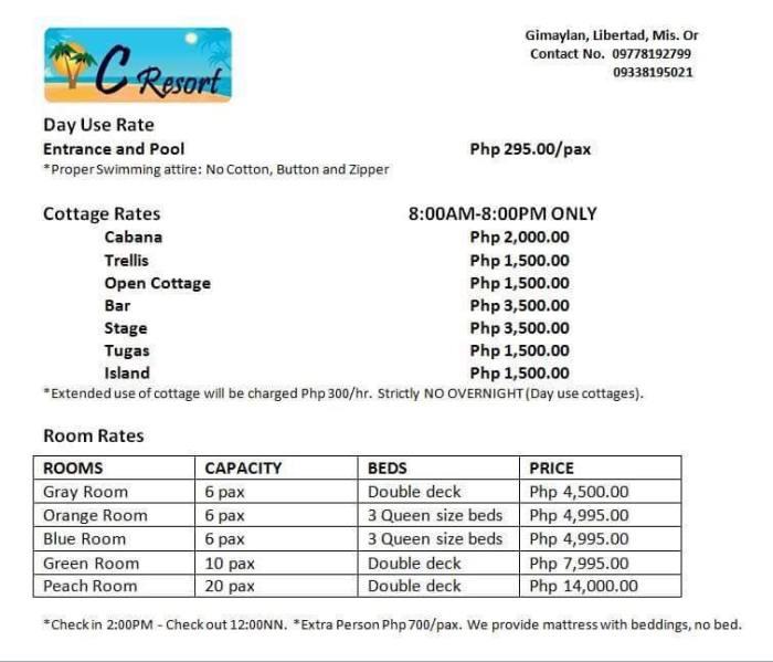 C Resort Rate