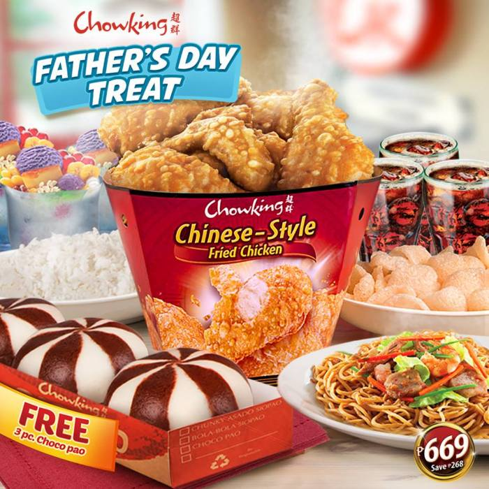 Chowking Father's Day Treat