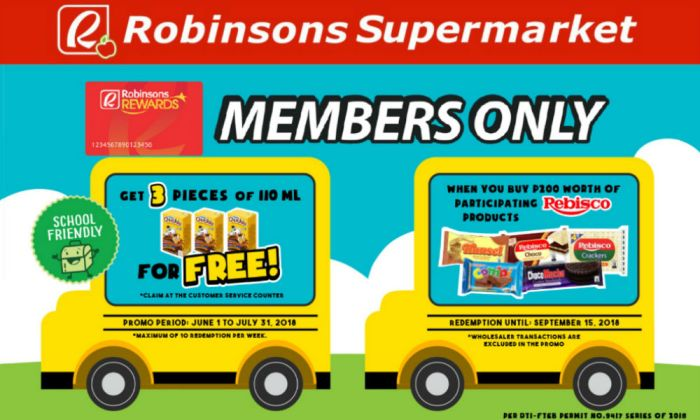 FREE Chuckie with Rebisco Crackers for Robinsons Rewards Members
