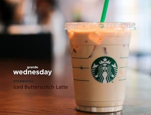 Iced Butterscotch Latte July 11