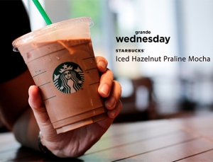 Starbucks Iced Hazelnut Praline Mocha July 4