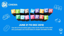 Kids Watch for FREE at SM Cinemas FI