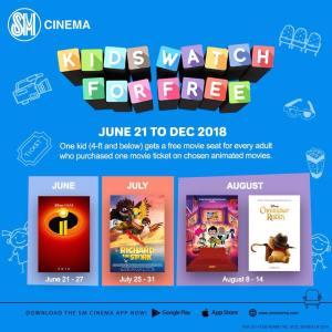 Kids Watch for FREE at SM Cinemas