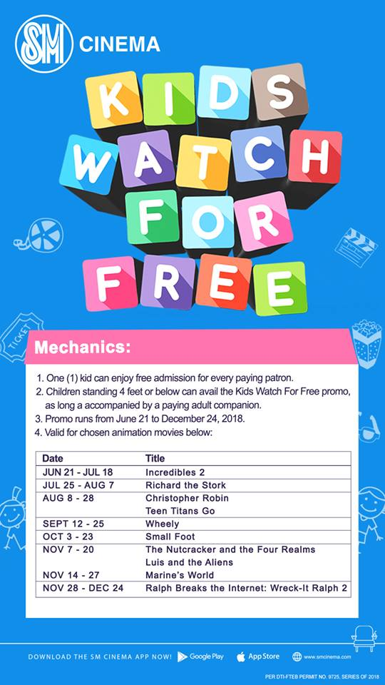 kids watch for free at SM movies