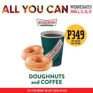 Krispy Kreme Dougnuts and Coffee All You Can Wednesdays