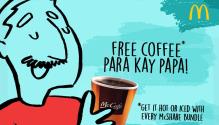McDonald's Free Coffee Para Kay Papa FI