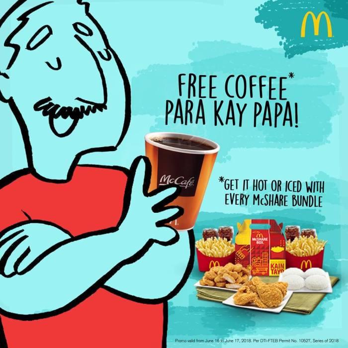 McDonald's Free Coffee Para Kay Papa