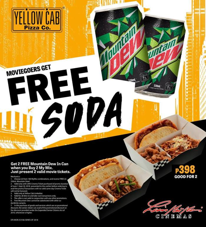 Movie Goers get Free Soda from Yellow Cab Limketkai