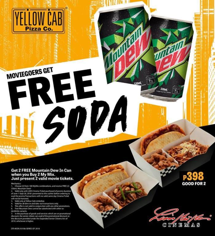Movie Goers get Free Soda from Yellow Cab Limketkai