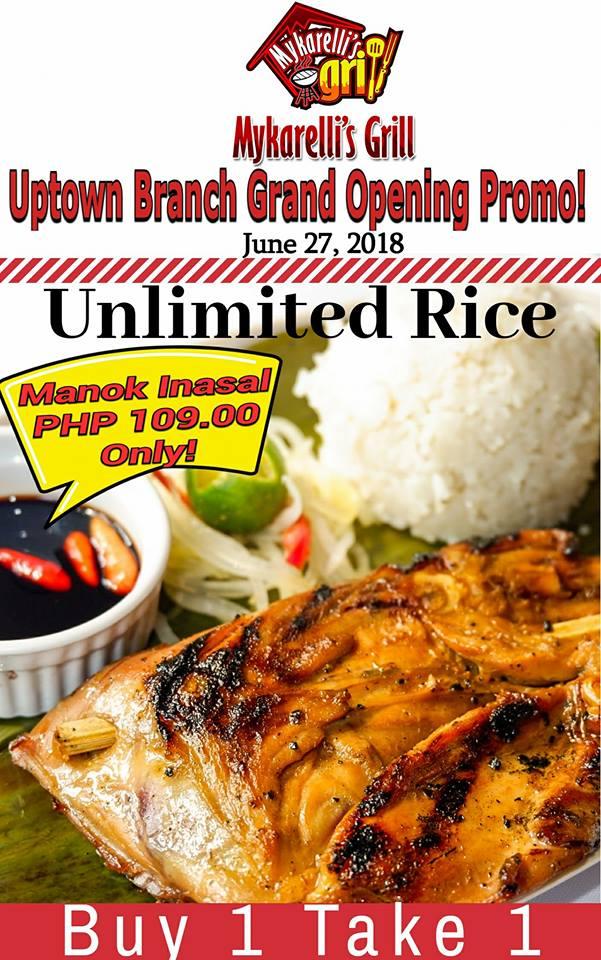 Mykarellis Grill Uptown Grand Opening Promo