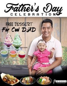 Osaka Takoyaki FREE Dessert for Cool Dad