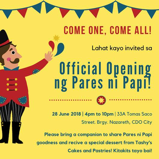 pares ni papi official opening
