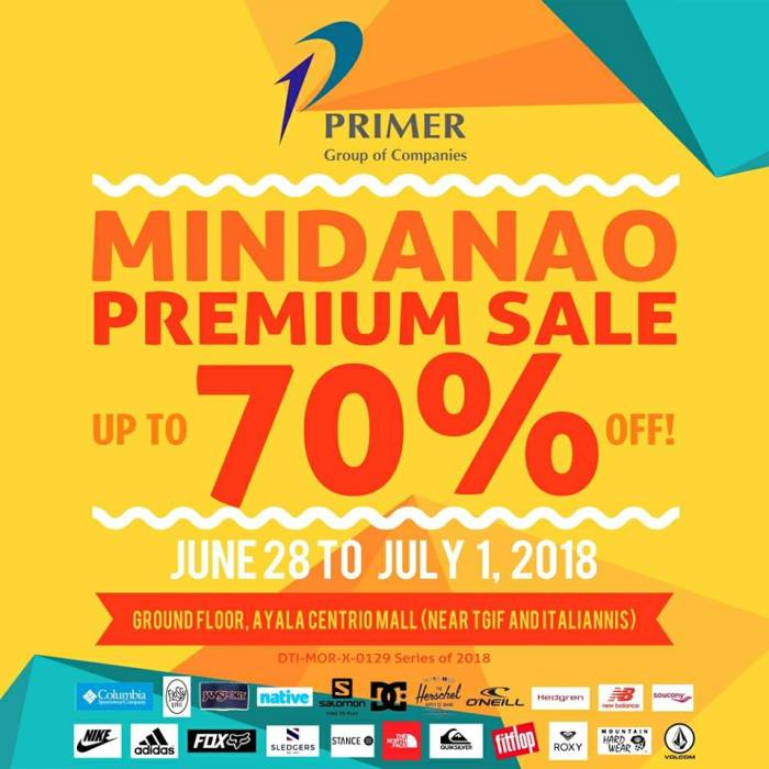 Primer Group of Companies Mindanao Premium Sale