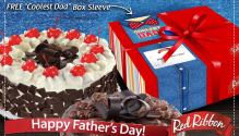 Red Ribbon Free Box Sleeve Fathers Day Promo FI