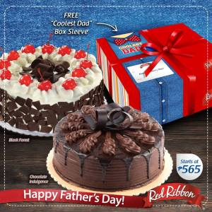 Red Ribbon Free Box Sleeve Fathers Day Promo