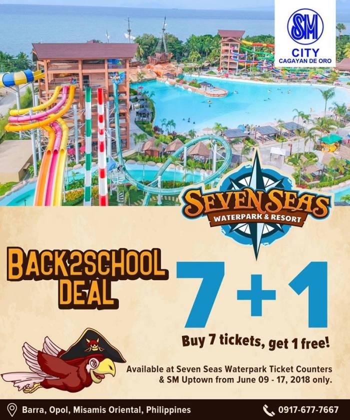Seven Seas Waterpark Back2School Deal