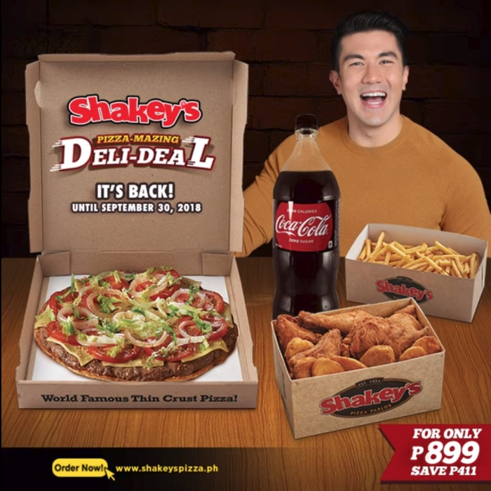 Shakey's pizza-mazing deli-deal is back