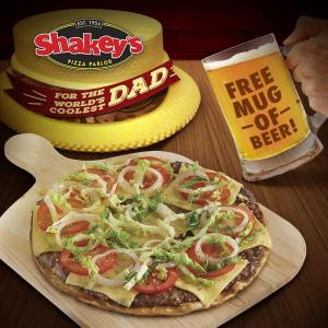 Shakey's Free Mug of Beer or Soda Father's Day Promo