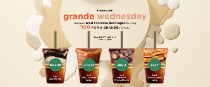 Starbucks Iced Espresso Grande Wednesdays