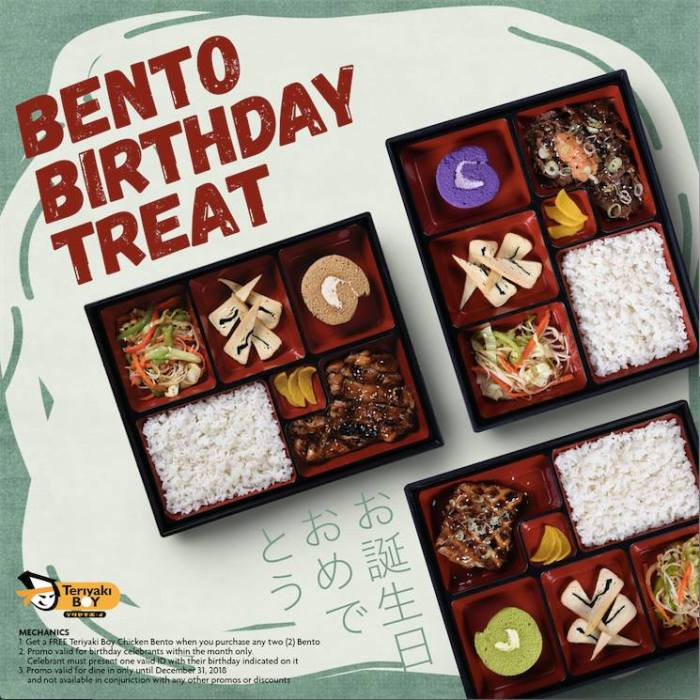 Teriyaki Boy bento birthday treat