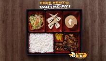 Teriyaki Boy FREE Bento on your Birthday FI
