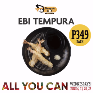 teriyako boy unlimited ebi tempura